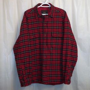 American Eagle Quilted Shirt Jacket Large